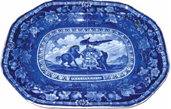 "21"" Arms of Pennsylvania Platter"