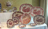 Collection of Richard Jordan Transferwares offered at the Show & Sale by Peggy Sutor