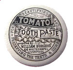 William Burgess Tomato Tooth Paste pot lid thumbnail