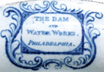 Philadelphia Waterworks Dam mark