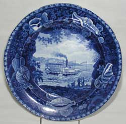 Enoch Wood & Sons, Irregular Shell Border Series, Chief Justice Marshall Pattern Plate, ca. 1825