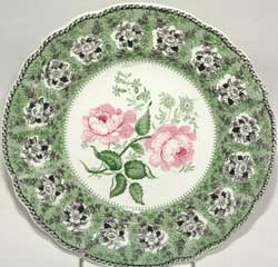 Unknown Maker, Floral Pattern Plate, ca. 1835