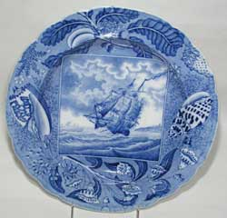 Rogers (Possibly), Shipping Series Pattern Plate, ca. 1820