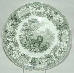 Spode, Aesops Fables Series, The Fox and the Lion Pattern Plate, ca. 1832