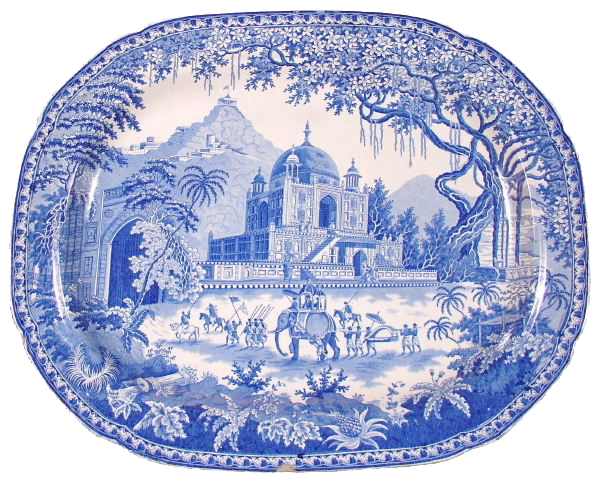 """Mausoleum of Sultan Perveiz"" platter"