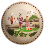 """Malay Beach Scene, Malays of Java"" Plate"