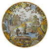 Chinoiserie High Bridge Plate