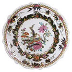 Geese with Peonies and Feathers Plate