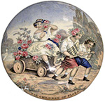 """The Children of Flora"" plate"