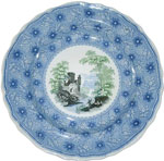 """Romantic Castle #1 Plate"
