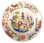 """New Hall Chinoiserie saucer"" Plate"