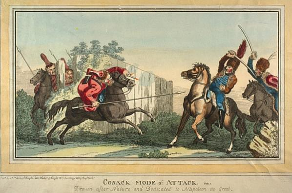 Cosack Mode of Attack, Drawn after Nature and Dedicated to Napoleon the Great