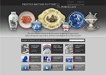 printed british pottery and porcelain website
