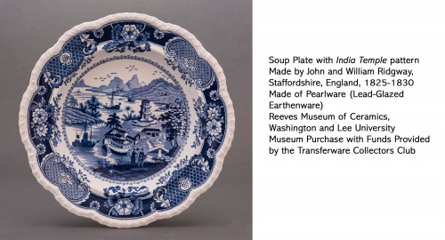 soup plate with India Temple pattern
