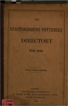 Staffordshire Potteries' Directory For 1868.