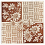 Flowers and Geometrical Squares Tile