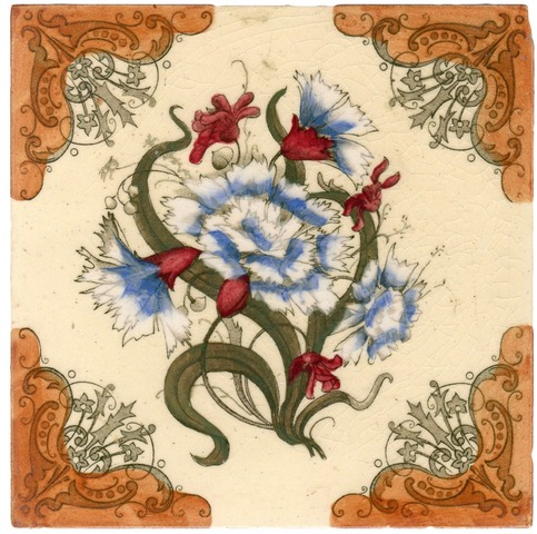 Blue Carnations tile